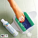 FootMate Foot Scrubber and Massager for Shower with Rejuvenating Gel - Exclusive White and Blue FootMate System