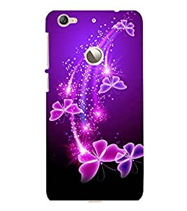 printtech Butterfly Starry Sparkling Back Case Cover for LeEco Le 1s Eco