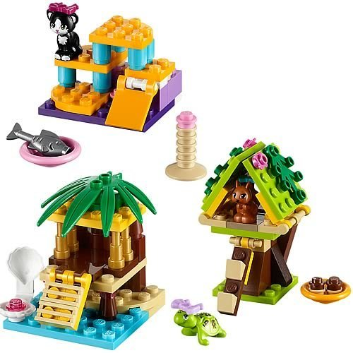 41 Pieces, Squirrel's Tree, Cat's Playground & Turtle's Little Oasis Animal Set (Lego Friends Oasis compare prices)