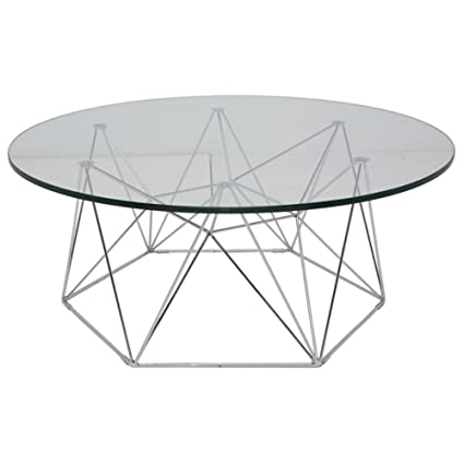 Round Coffee Table in Chrome