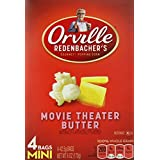 Orville Redenbacher's Gourmet Microwavable Popcorn Movie Theater Butter Mini Bag, 4 Count Boxes (Pack of 12) ~ Orville Redenbacher's