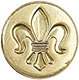 Manuscript Pen Decorative Seal Coin, 0.75 Inch, Fleur De Lis