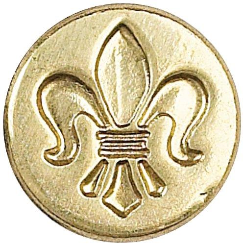 Manuscript Pen Decorative Seal Coin, 0.75-Inch, Fleur De Lis