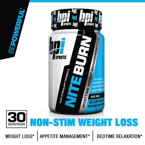 Amazon.com: BPI Sports Nite Burn Nighttime Weight Management Formula, 30-Count: Health