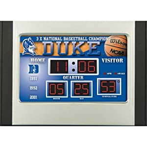 Buy Team Sports America Duke Blue Devils 6.5x9 Scoreboard Desk Clock by Team Sports America