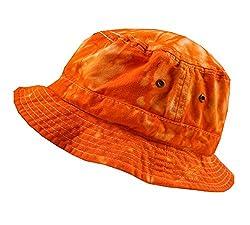Colortone Bucket Hats Youth Spider Orange