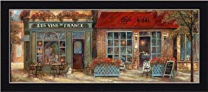 l'Ambiance I by Ruane Manning French Village 21.5x9.5 Framed Art Print Picture Wall Decor