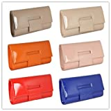 *Free Bracelet* New Oversized Nude Ladies Party Dinner Evening Clutch bag Wedding Prom 1534