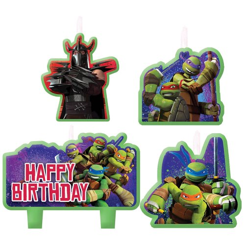 Teenage Mutant Ninja Turtles Birthday Candles - Birthday and Theme Party Supplies - 4 Per Pack - 1