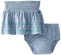 Roxy Kids Baby-Girls Infant White Sand Skirt, Chambray, 24 Months