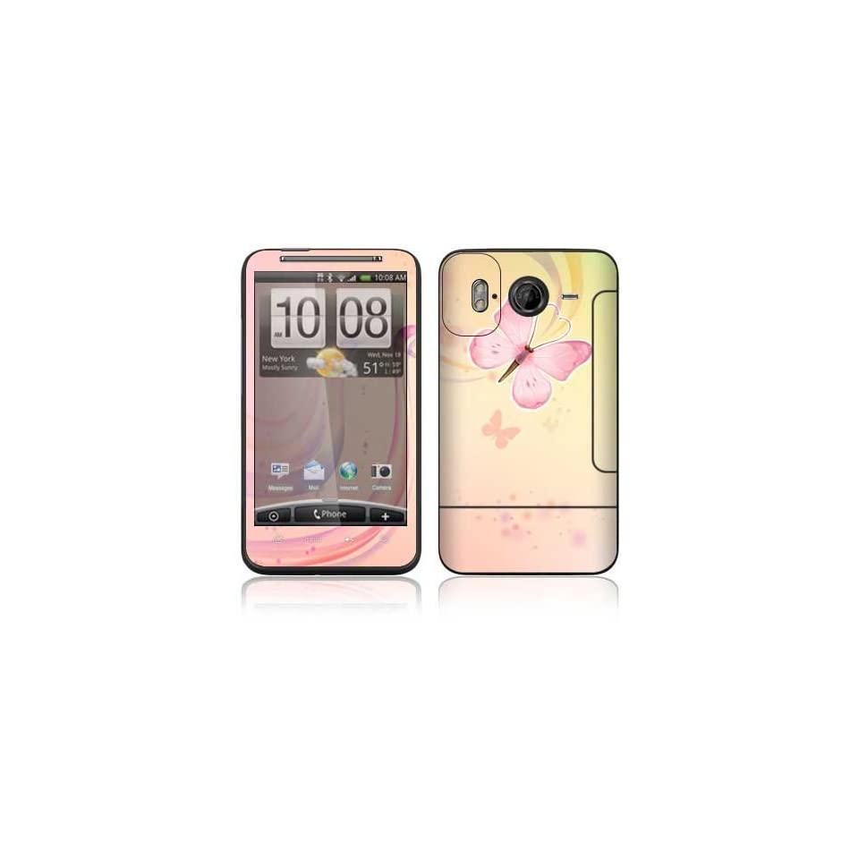Pink Butterfly Decorative Skin Cover Decal Sticker for HTC Inspire 4G Cell Phone