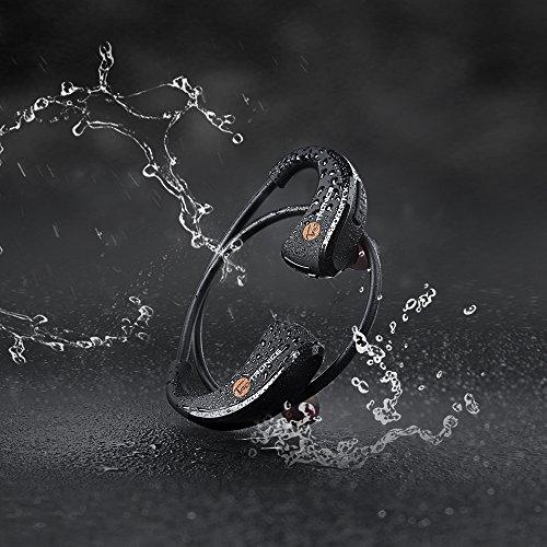 Auricolari Bluetooth, TaoTronics Cuffie Wireless Stereo Sport a Prova di Sudore ( Bluetooth 4,1, aptX, IPX5, 10 ore di riproduzione, Microfono Incorporato, CVC 6.0 ) per iPhone, Galaxy, Tablet, MP3, ecc - Nero
