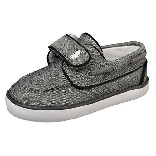 Polo Ralph Lauren Kids Sander P Ez Sneaker (Toddler),Gray/Black,6 M Us Toddler front-669757
