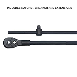 Neiko 02409A 3/4 Drive Deep Impact Socket Set, 22 Piece | Includes Ratchet & Bar Drivers | SAE (7/8 - 2) | Cr-Mo Steel (Renewed) (Tamaño: 7/8 x 2)