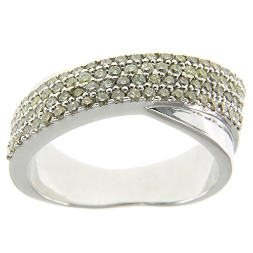 D'Sire 10K White Gold And Brown Diamond Ring