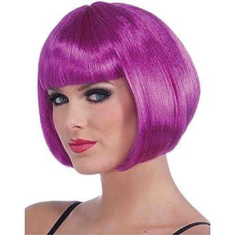 Sassy Bob Neon Purple Wig