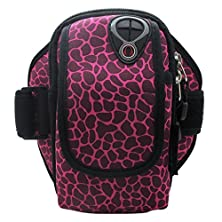 buy Co2Crea Outdoor Sports Running Armband Fits Upto 5.5 Inch Device Color: (Sika Deer Pattern-Rose)