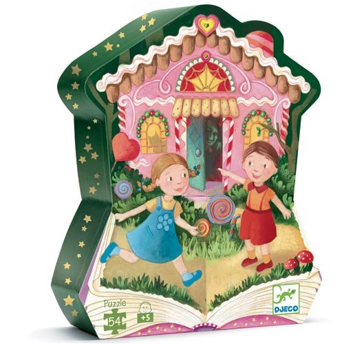 Picture of Djeco Hansel And Gretel Silhouette Puzzle by Djeco (B001IBTCKY) (Floor Puzzles)
