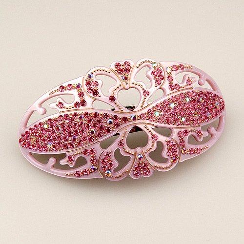 Eternelle Pink - Cubitas Bellini Collection (Hand-set Swarovski Crystals, Hair Clip)