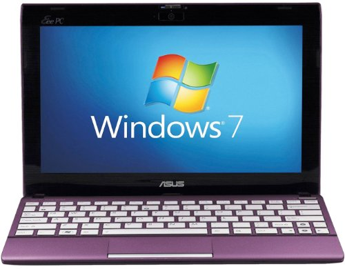 Asus Eee PC X101CH 10.1-inch Netbook (Purple) - (Intel Atom N2600 1.6GHz, 1GB RAM, 320GB HDD, LAN, WLAN, Webcam, Integrated Graphics, Windows 7 Starter)