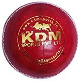 KDM Sports Leather Ball (Red)