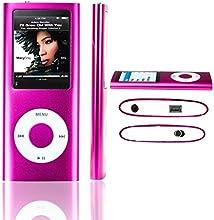 LA Dernière Version LECTEUR MP3/MP4 - SAVFY® - Ultra-Mince Avec 1,8 Pouces TFT écran 8Go Fuschia, interface Mini-USB, vidéo, musique, jeux et films, photos Parcourir, E-book Reader