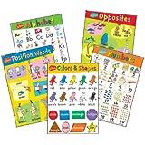 Paper Magic 847628 Eureka Dr. Seuss Beginning Concepts Bulletin Board Set, 5 Panels 17 x 24-Inch Each