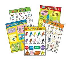 Eureka Dr. Seuss Beginning Concepts Bulletin Board Set, 5 Panels 17 x 24\