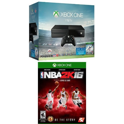 Xbox One 1TB Console - Madden NFL 16 Bundle + NBA 2K16