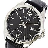 セイコー SEIKO クオーツ メンズ 腕時計 SUR215P1 ブラック 逆輸入