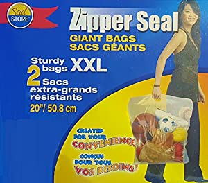 2 Giant XXL Bags Zipper Seal