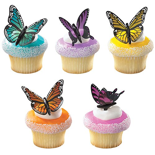 DecoPac Butterflies DecoPic Cupcake Picks (12 Count)