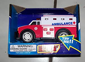 Toy ambulance with lights and sound