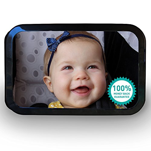 Baby Car Mirror, BONUS eBook Included - Best for Rear Facing Car Seat and Toys