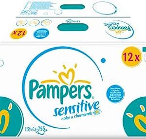 Pampers Feuchte Tücher Sensitive Vorteilspack Giga, 756 Stück