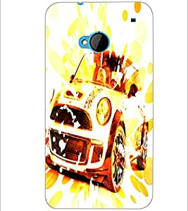 PrintDhaba Car D-3886 Back Case Cover for HTC ONE M7 (Multi-Coloured)