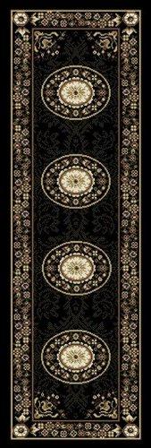 Home Dynamix Optimum 11023-450 Polypropylene 1-Feet 9-Inch by 7-Feet 2-Inch Area Rug, Black