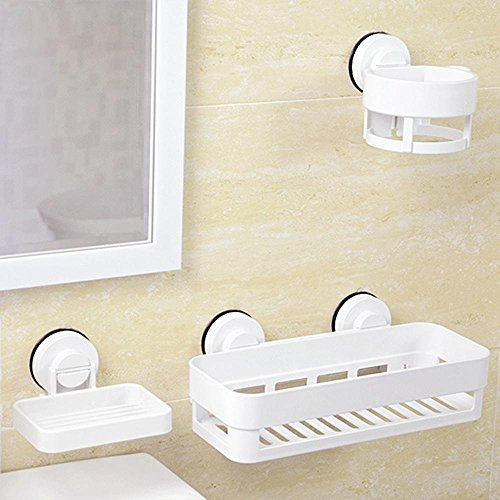 SSBY Bathroom style suction cup rack, hair dryer, SOAP, toothbrush holders, MOP frame five-piece suit,