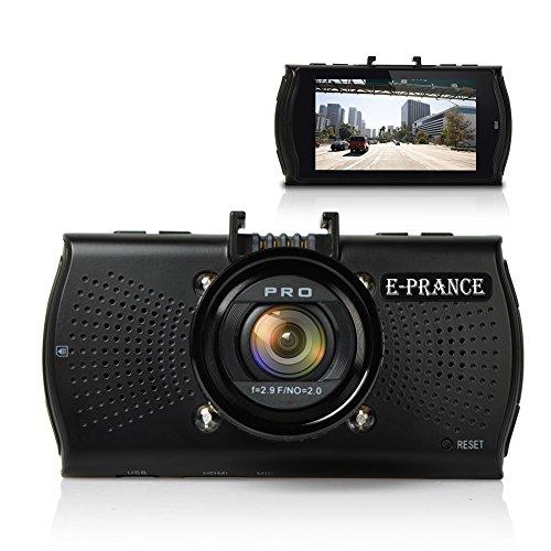 E-PRANCE® GPSなしモデル 2.7インチ フルHD 1296P 超高画質 400万画像 B48 ドライブレコーダー Ambarella A7LA70 + 広角170度 + 夜間撮影可能(IR暗視機能付き) +microSDカード16GB 「並行輸入品」