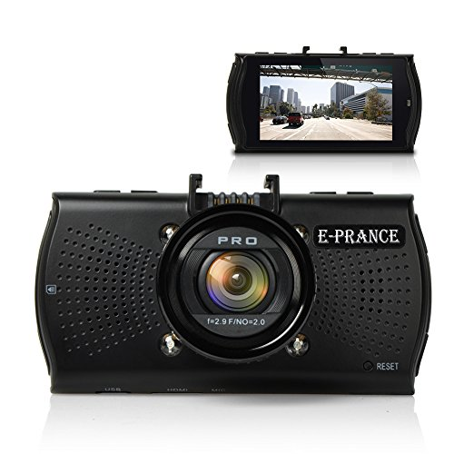 E-PRANCE® GPS搭載 2.7インチ フルHD 1296P 超高画質 400万画像 B48 ドライブレコーダー Ambarella A7LA70 + 広角170度 + 夜間撮影可能(IR暗視機能付き)+軌跡記録可能「並行輸入品」