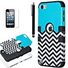 iPod Touch 5 case,ULAK® Hybrid Hard Pattern with Silicon Case Cover for Apple iPod Touch 5 Generation (Black / Follow The Sky)
