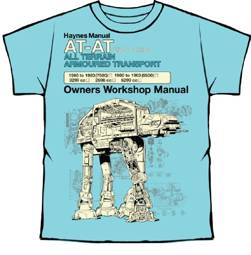 Official Licensed Merchandise - Haynes Manual Star Wars T Shirt AT-AT new