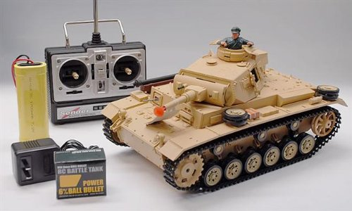 1/16 Scale Tauch Panzer III Radio Controlled RC Airsoft Battle Tank New