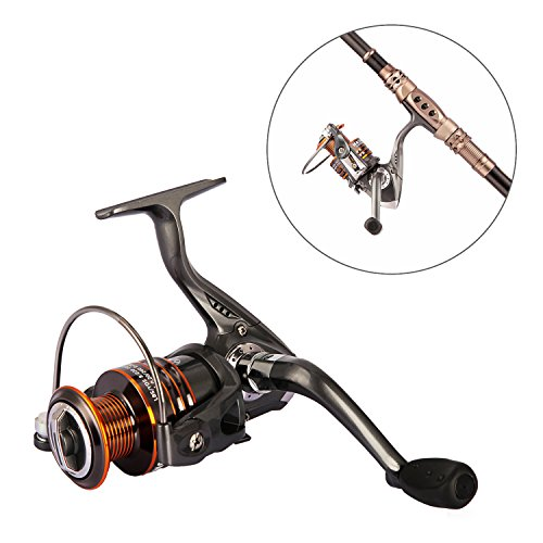 Plusinno® HongYing Series Fishing Reels Spinning Freshwater Saltwater with 5.2:1 Gear Ratio Metal Body Left/right Interchangeable Collapsible Handle Spinning Fishing Reel