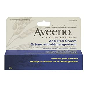 Aveeno Active Natural Calamine & Pramoxine HCI, Anti-Itch Cream 1-Ounce Tubes (Pack of 6)