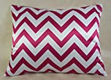 Creative Luxurious Satin Pillow Case With Hidden Zipper, Standard, Fuchsia Chevron