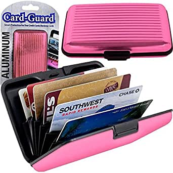 Aluminum Credit Card Wallet - RFID Blocking Case - Pink