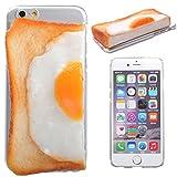 iPhone6s iPhone6 ケース カバー 食品サンプル クリアケース ハードケース / パン / 左