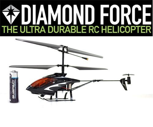 Diamond Force Ultra Durable RC Helicopter Gyroscope Mini 3 Channel Indoor Ready to Fly Infrared Remote Control Micro Heli RTF