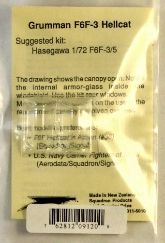 Squadron Products F6F-3 Hellcat Vacuform Canopy